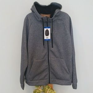 32 Degrees Heat Fleece Zip Up Hoodie NWT